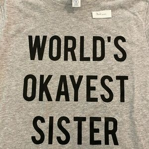 Sister vintage tee shirt new, grey t-shirt